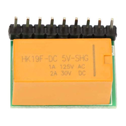 SALUTUYA DR21A01 DC 5 V / 10 V 1 Canal DPDT Módulo de Relé de Señal Tablero de Interruptor de Inversión de Polaridad(5V)