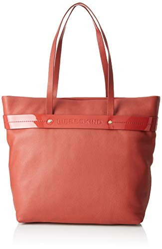 Liebeskind Berlin Damen Shopper L Soshopper Schultertasche, Rot (Hot Red), One Size