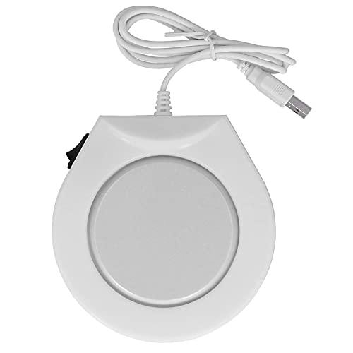 Goshyda Alfombrilla cálida para Tazas, Alfombrilla calefactora alimentada por Interfaz USB con Interruptor de Encendido para Dormitorio de Oficina en casa