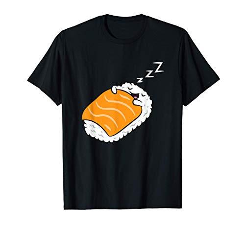 Carino Sushi Kawaii Kawaii cibo giapponese Dormire Sushi Maglietta