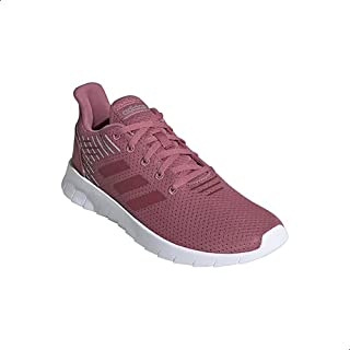 Adidas Asweerun Mesh Textile Side Stripe Logo Tongue Lace-Up Sneakers for Women 41 1/3
