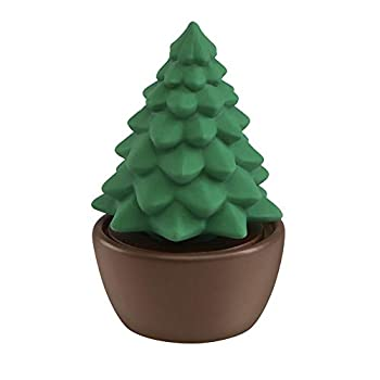 Ellia Evergreen Christmas Tree Porcelain Aroma Diffuser Holiday Décor for Essential Oils