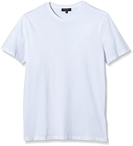 New Look 2 Pack Basic Crew T-Shirt, Bianco, Small Uomo