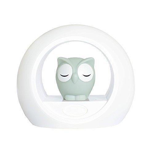 Voice Activated Nightlight Lamp - Sleep Trainer, Grey Owl Lou by Zazu Kids