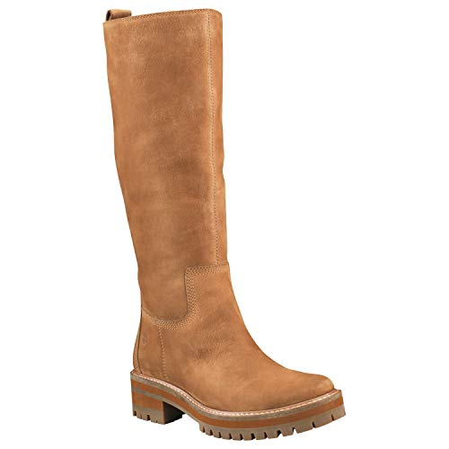 Price comparison product image Timberland Women's Courmayeur Valley Tall Boot Fashion,  Medium Brown Nubuck,  7 M US