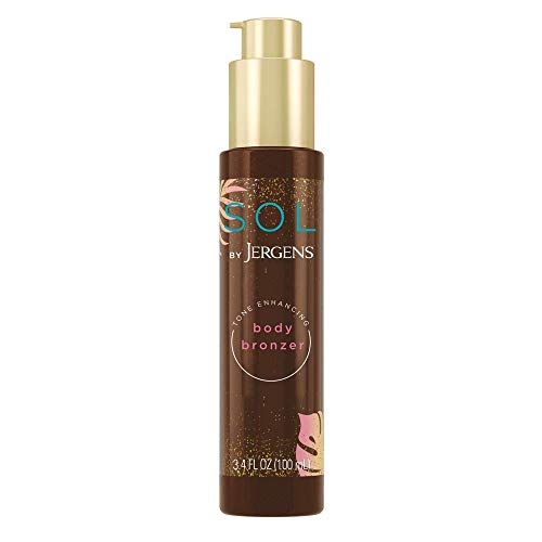 SOL by Jergens Self Tanner Body Bronzer, For All Unique Skin Tones, Sunless Tanning, Wash-off...