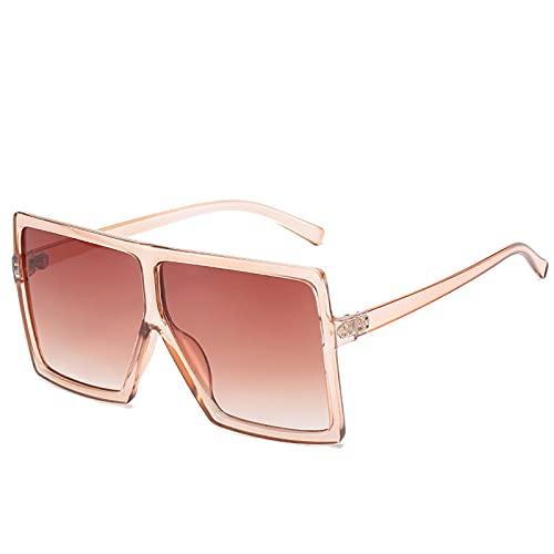 UKKD Gafas De Sol Plaza Mujeres Gafas De Sol Mujer Eyewear Eyeglasses Marco De Plástico Lente Transparente Uv400 Shade Fashion Driving