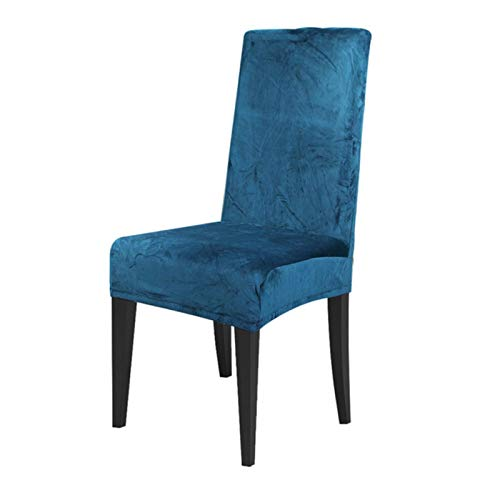 AILIFE Velvet Dining Chair Abdeckung Spandex Elastic Stuhlbezug Fall für Stühle Büro Hochzeit Esszimmer Stuhl-Abdeckung Stretch 2Pcs,Teal blau