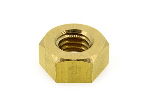 黄銅/生地 六角ナット [1種] 切削加工 (ウィット) W7/16 (2個)