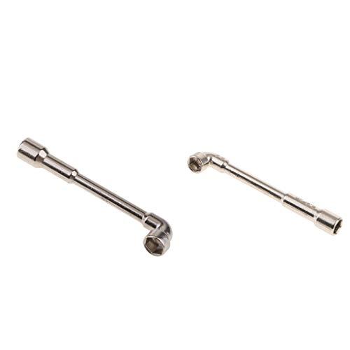 SDENSHI 2 Stück L Typ Schraubenschlüssel 7 Mm + 5,5 Mm Rohrbogen Doppelkopf Reparaturbuchsenwerkzeug
