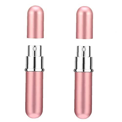 Bouteille de shampooing, bouteilles de parfum de 6 ml portables mini de parfum rechargeable de pulvérisation de pulvérisation de pulvérisation de pistolet à pompe de pompe rose 2pcs
