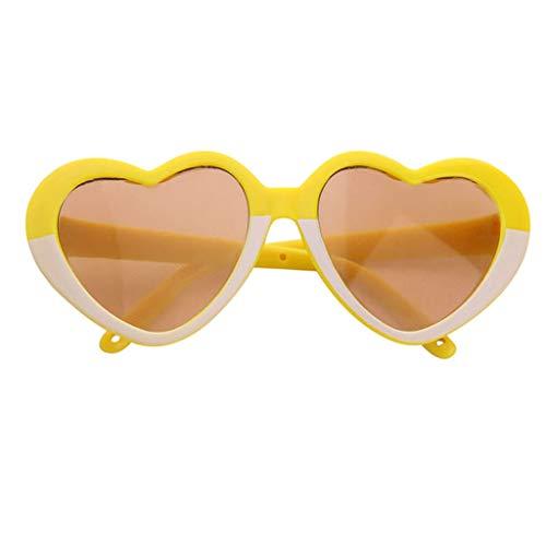 perfeclan Juguetes Gafas para Muñecas Bebé de 43-45 Cm Muñeca de Niña de 18 Pulgadas Gafas de Sol de Plástico Marcos Amarillos