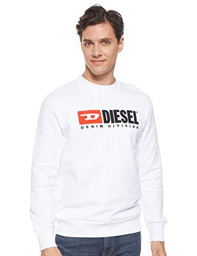 Diesel Herren S-Crew-Division SWEA Sweatshirt, Weiß (White 100), Medium (Herstellergröße: M)