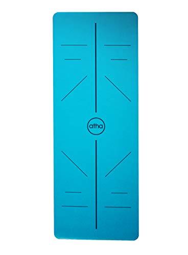 atha Esterilla de Yoga Pro Align – Azul (185 x 68 cm/Grosor: 4.2 mm) · Esterilla ecológica y 100% Antideslizante