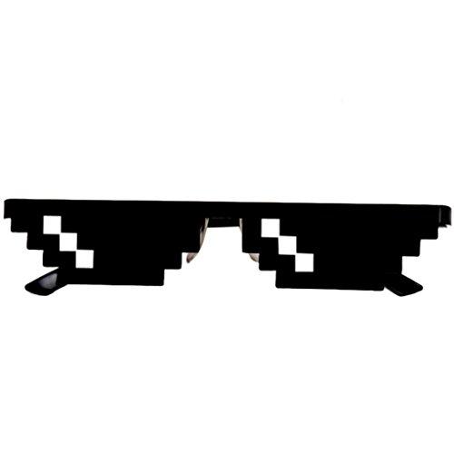 SUMTTER Thug Life Glasses 8 bit Pixel Deal con IT Occhiali sole Unisex Occhiali sole Toy Eyewear (A)