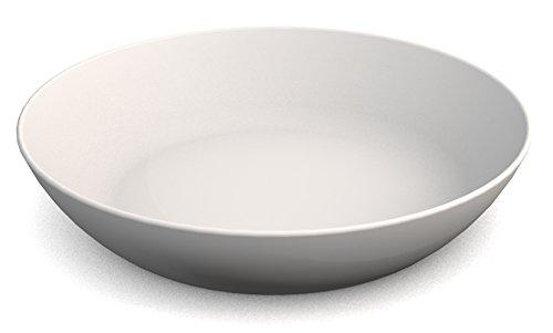 Ornamin Teller tief Ø 15 cm weiß Melamin (Modell 415) / Kunststoffteller, Servierschälchen, Müslischale