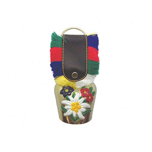 "Essence of Europe Gifts E.H.G Oktoberfest Party Idea Edelweiss Bell (1.75"")"