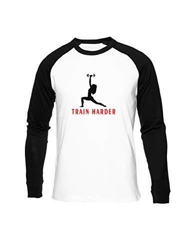 Fioze Entrenar Más Fuerte Camiseta Béisbol Unisex Cuello Redondo Baseball Unisex T-Shirt