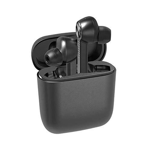 Bluetooth Kopfhörer Headset mit Ladestation für Handy - happyset - Earbuds 2 Handys Geräte mit Mikrofon Business Auto Büro universal iPhone 11 X 8 XS XR 7 Samsung Galaxy S20 S10 S9 Huawei P40 P30 P20