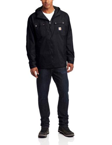 Carhartt Men's Big & Tall Rockford Rain Defender Jacket,Black,XX-Large Tall