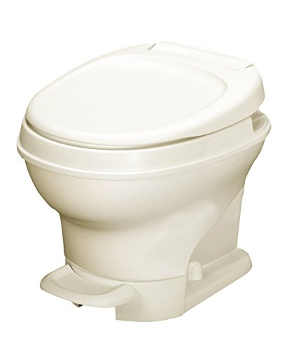 Thetford 31651 Aqua-Magic V Toilet, Low/Pedal Flush/Parchment