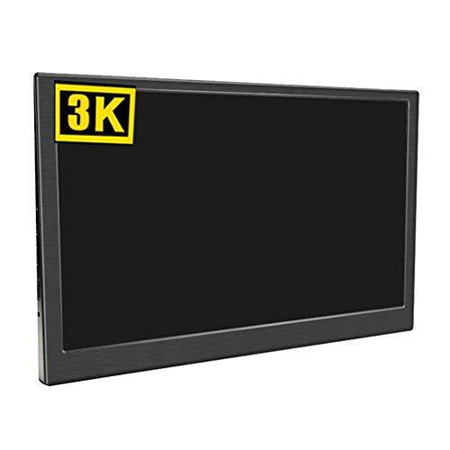 QinLL 15.6-inch 3K draagbare monitor, Gaming Display met HDMI voor Laptop Ps4/Switch/Hdmi Game Display ingebouwde dubbele luidspreker