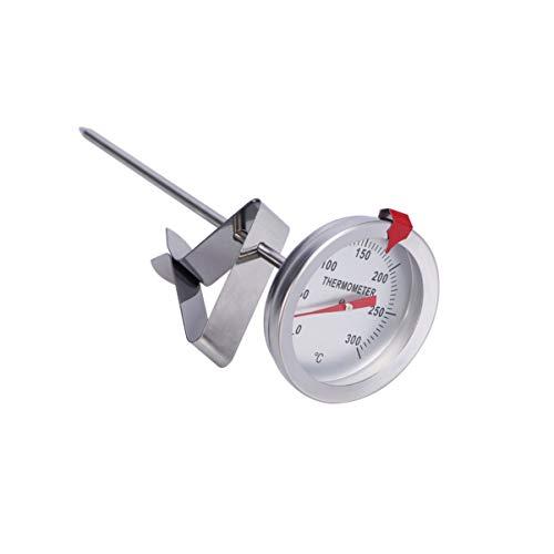 DOITOOL Frittierthermometer mit Clip Instant Read Fleisch Kochthermometer Edelstahl Langschaft Zifferblatt Thermometer für die Türkei Grill Grill (15cm Sondenlänge)