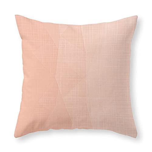 Cocoal-ltd - Federa per cuscino, motivo geometrico e minimalista, con un tocco di pesca, 45,7 x 45,7 cm, per divano letto, auto e decorazione per la casa
