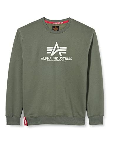 ALPHA INDUSTRIES Herren Basic Sweater Sweatshirt, Vintage Grün, Small