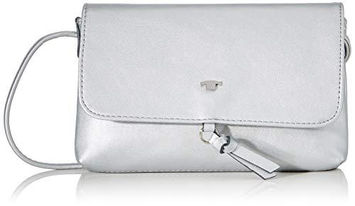 TOM TAILOR Umhängetasche Damen, Silber, Luna, 20x2x12,5 cm, Handtasche, Schultertasche