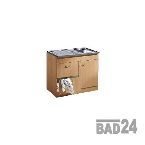 Küche-Spülenschrank/ Mehrzweckschrank 100x60 Auszüge Start Melamin Buche/Buche