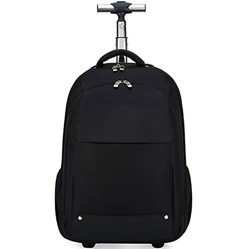 BCXS 2 Wheeled 15.6 inch Laptop Rucksack, Travel Business Wheeled Laptop Backpack for Men Women, Compatible for 15.6 inch Laptop,Black3,20in