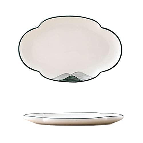 Hanpiyigcp Dinner Plates, Hotel restaurant restaurant creative household kitchen tableware fish plate dish soup bowl (Color : G)