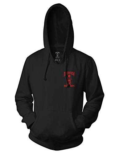 Ripple Junction Death Row Records Adult Unisex Red Black Death Row Logo Pull Over Hoodie SM Black