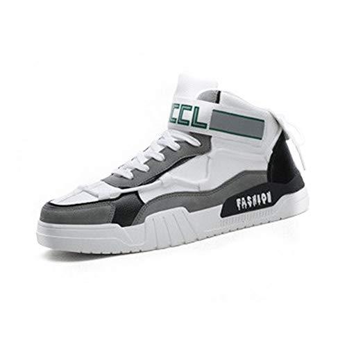 IDE Play Hommes Sports Chaussures de Course Casual Marche Jogging Salle de Gym Chaussures de Sport Confortable Athletic Baskets Mode Mesh Respirant,Whitegray,41