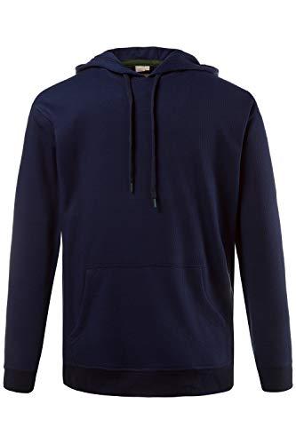 JP 1880 Herren große Größen bis 7XL, Hoodie, Kapuzen-Sweater, Pullover in dunkelblau Muster 100% Baumwolle, Regular Fit, Langarm Navy XL 708297 70-XL