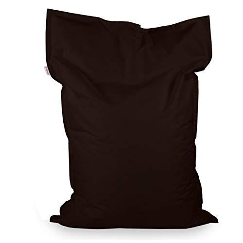 Italpouf Sitzsack Sitzkissen Riesensitsack XL Braun 98 x 138cm 250l Füllung Outdoor Indoor Bean Bag