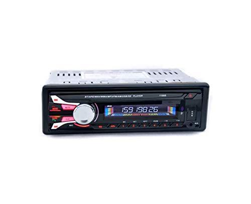 GOFORJUMP Autoradio Bluetooth Panneau Avant détachable Auto Audio Stéréo Voiture Lecteur MP3 AUX USB Radio Mains Libres Tuner Télécommande