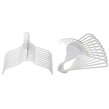 Joy Mangano 24 Pk Suit/Shirt Huggable Hangers, White