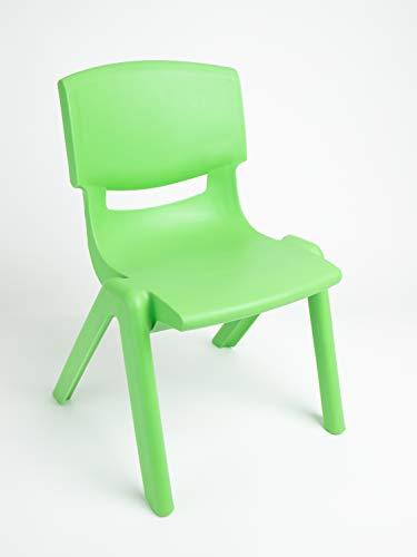 sedia bieco 04000002 per bambini da impilabile in plastica ca. 53 x 33 x 28 cm, verde