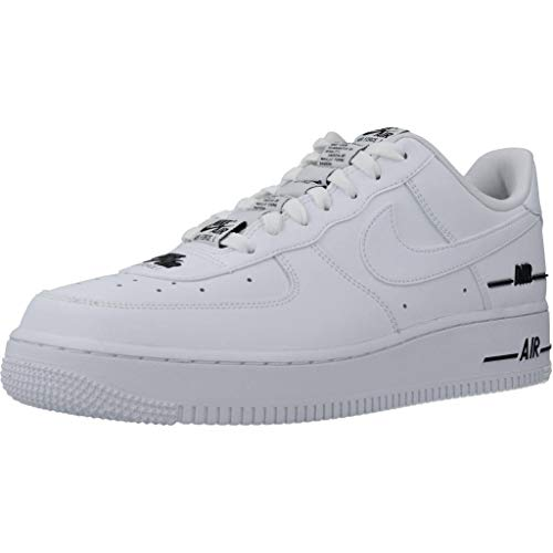 Nike Herren AIR Force 1 '07 LV8 3 Basketball Shoe, White/White-Black, 45 EU
