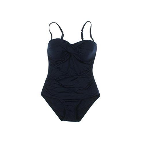 Tommy Bahama Womens Pearl Twist Front One Piece Swimsuit Mare Size 6