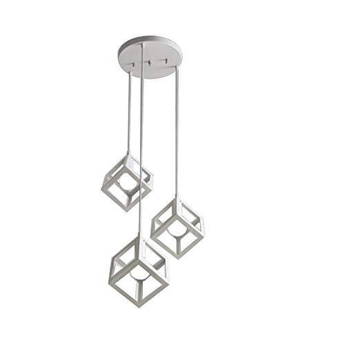 3 Lichter schwarz Finish Pendelleuchte mit Metall Quadrat hängenden Vintage Lampe Leuchte für Esszimmer Schlafzimmer Küche Bauernhaus