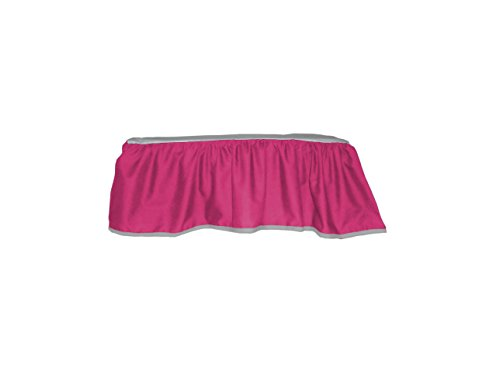 Baby Doll Bedding 2-toned solid poly/cotton Hot Pink/Grey