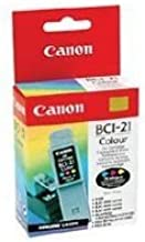 Canon Model BCI-21C Color Ink Tanks, Pack Of 2