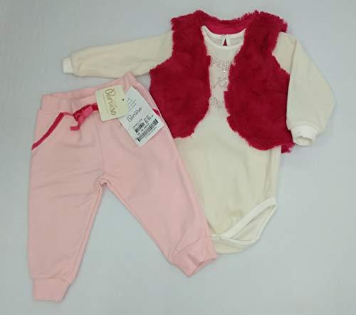 CONJUNTO INFANTIL BEBÊ MENINA PARAÍSO 3 PEÇAS C. ML68 (M)