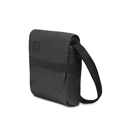 Moleskine ID Reporter Bag Umhängetasche (Gerätetasche für Tablet, Laptop, PC, Notebook & iPad bis zu 10 Zoll, Maße 23 x 12 x 30 cm) schwarz