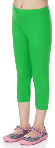 Merry Style Leggings 3/4 Bambina e Ragazza MS10-131 (Verde, 140 cm)