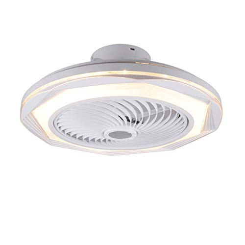 TATANE Invisible Techo Ventilador iluminación 72W Regulable LED Redondo Lámpara de Techo con Mando a Distancia Moderno Silenciar Ventilador Ligero para Sala Habitación Comedor Oficina Ø50CM,F