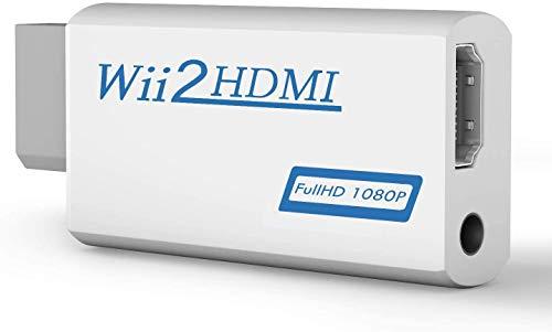 Rybozen - Convertitore da Wii a HDMI, adattatore 1080P 720P, uscita video audio adattatore HDMI connettore con jack audio da 3,5 mm e uscita HDMI, supporta tutte le modalità di visualizzazione Wii